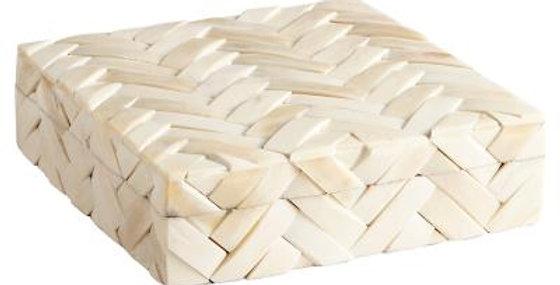 Large off-white bone box