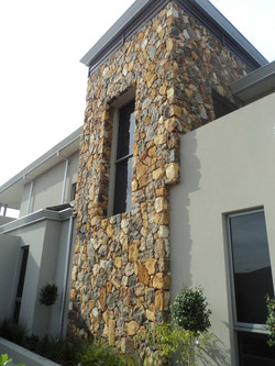 Feature Stonework on houses