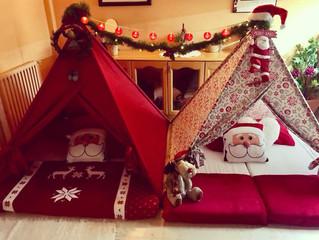 Carta a Papá Noel o a los Reyes Magos dentro de un Tipi