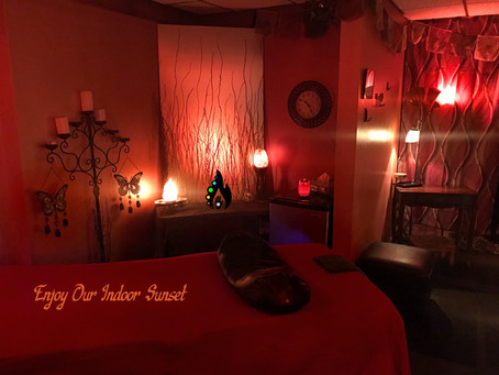 The perfect ambiance for your massage