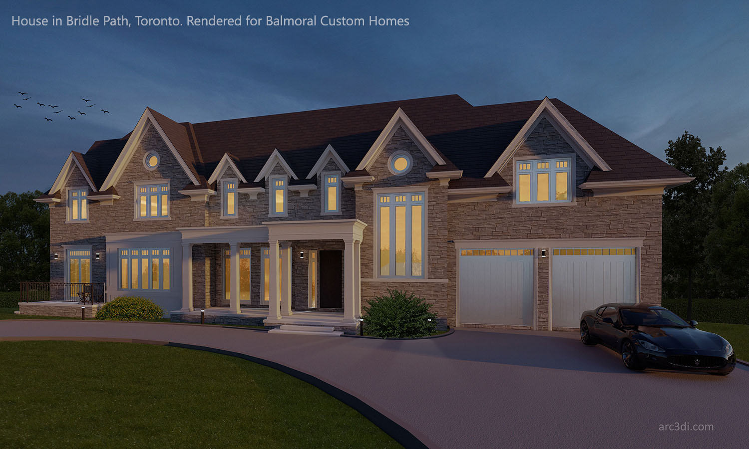 3D Rendering of a house in Bridle Path, Toronto