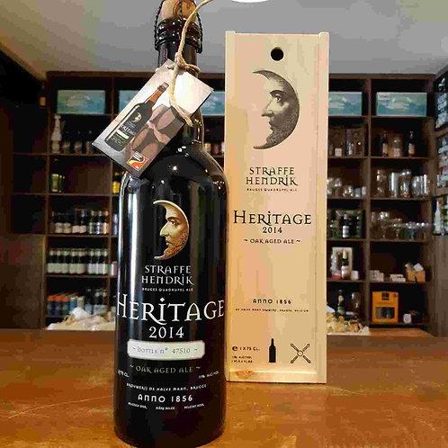 Cerveja Belga Straffe Hendrik Heritage 2014 envelhecida em Barris de Cognac 750m