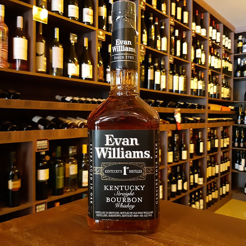 Whisky Bourbon Evan Williams Black 1000ml