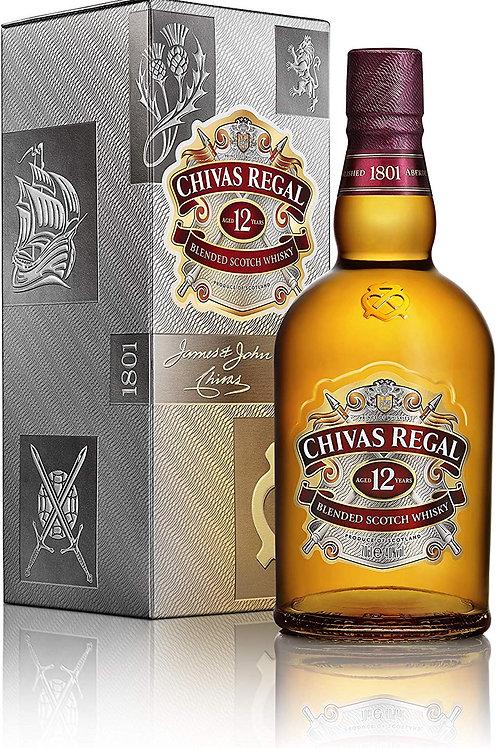 Whisky Scotch Chivas 12 Anos 1L