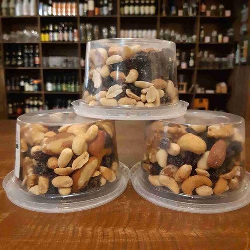Mix de Frutas Secas e Cantanha - potinho entre 150g e 170g