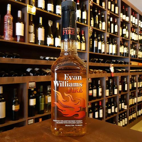 Whisky Bourbon Evan Williams Fire com Canela 750ml