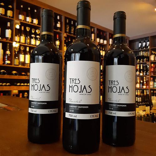 Vinho Tinto Chileno Tres Hojas Cabernet Sauvignon 750ml