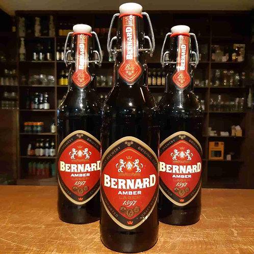 Cerveja Bernard Amber Lager Republica Tcheca Garrafa Especial Fliptop 500ml