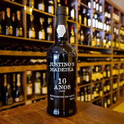 Vinho Tinto Madeira Justino's 10 anos 750ml