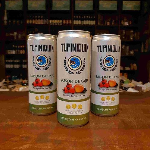 Cerveja Tupiniquim Saison de Caju 300ml - Frutada no início com final seco