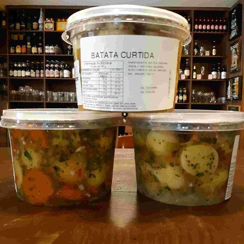 Batata Curtida Artesanal, Tempero Delicioso! 540g a 570g