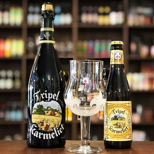 Kit Tripel Karmeliet 1 Cerveja 750ml + 1 Cerveja 330ml + Taça