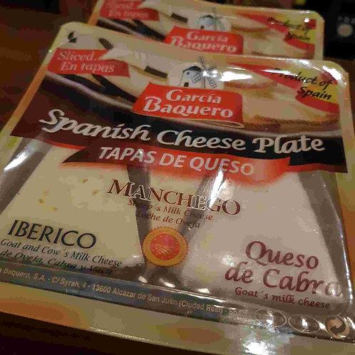 3 Tipos de Tapas de Queijo Espanhol: Ibérico + Ovelha + Cabra 150g