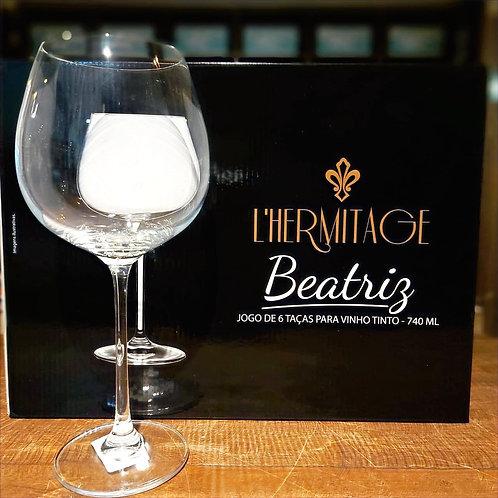 Taça de Vinho Borgonha-  Cristal Bohemina Linha Beatriz 740ml