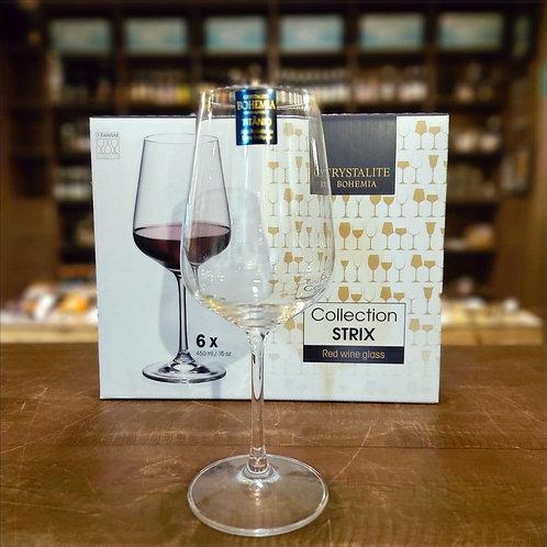 Taça de Vinho Tinto Bohemia Linha Collection Strix 450ml