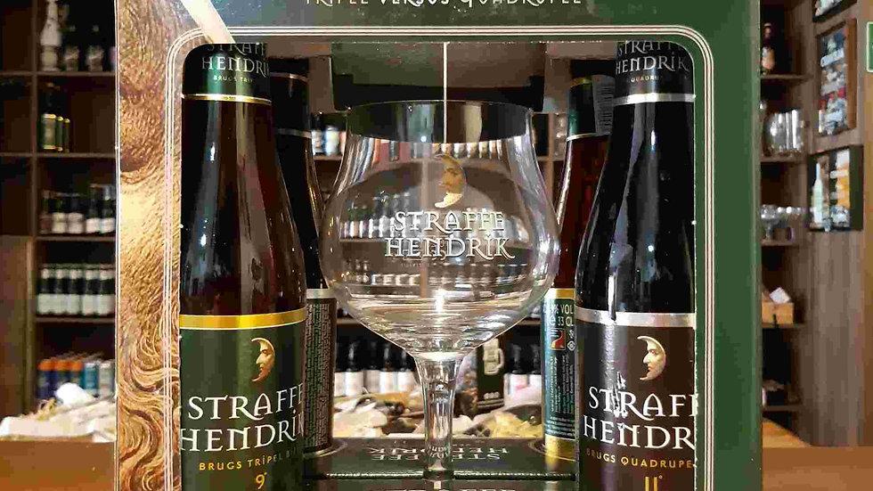 Kit Cerveja Belga Straffe Hendrik 2 Tripel + 2 Quadrupel + Taça Especial