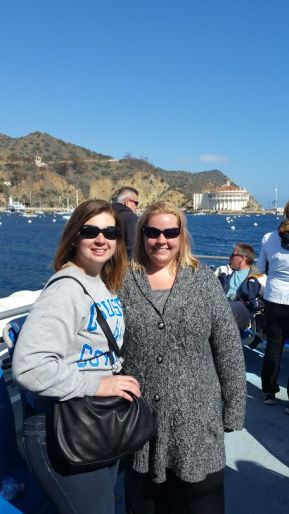 Keely and Elsa on Catalina for the Catalina Health Fair