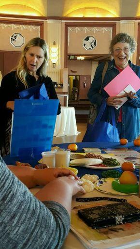 Catalina Health Fair Food display table