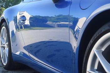 Crystal Serum Black on a Porsche 911 In Sapphire Blue