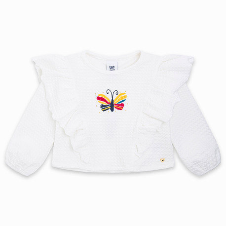 Tuc Tuc -Ruffle Jersey T-Shirt