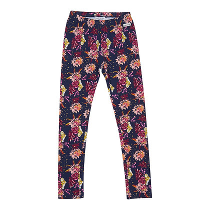 Happy Calegi - Navy Floral Print Leggings