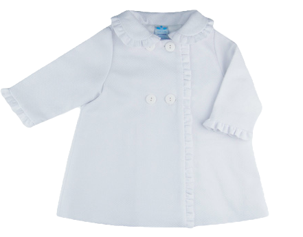 Sardon - White Coat & Bonnet Set