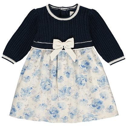 Talita - Talita Knit upper Dress with AOP skirt & Tights