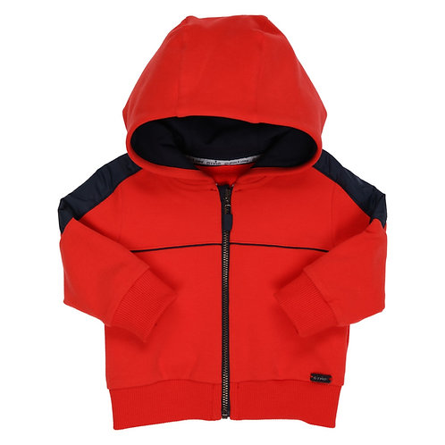 GYMP - Cardigan Combi Red & Navy