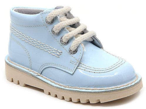 Leon Boots -  Sky Blue Patent