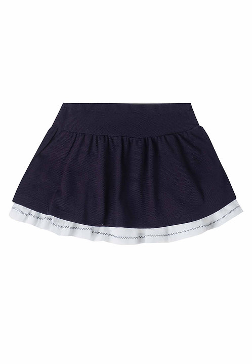 UBS2 - Navy Skirt with White Trim