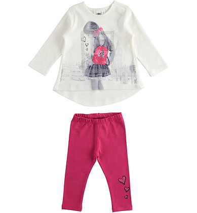 iDO - Set for girl with long-sleeved T-shirt