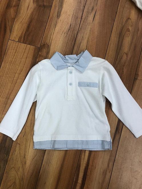 GYMP - White & Blue Polo Shirt