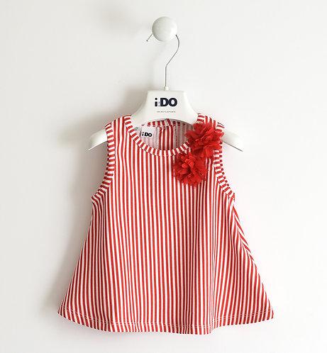 iDO - White & Red Tunic
