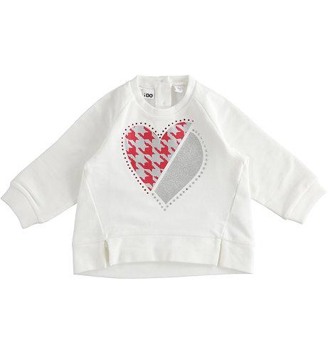 iDO - Cream Heart Sweater