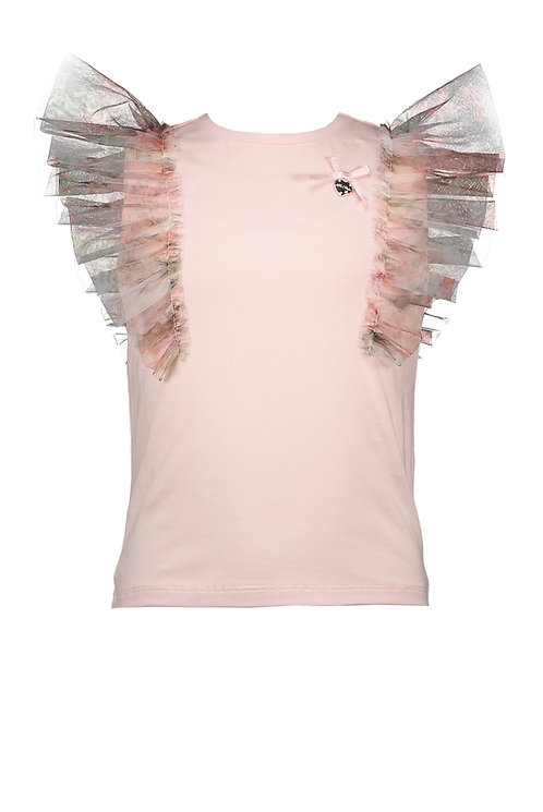 Le Chic - T-shirt Rose Tule Sleeves