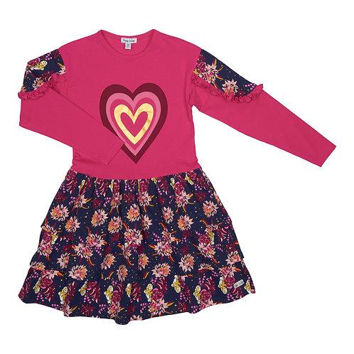 Happy Calegi -  Girls Pink Floral Dress