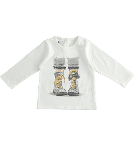 iDO - Crew neck t-shirt in stretch jersey with print