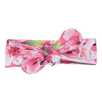 HAPPY - Pink Floral Print Headband