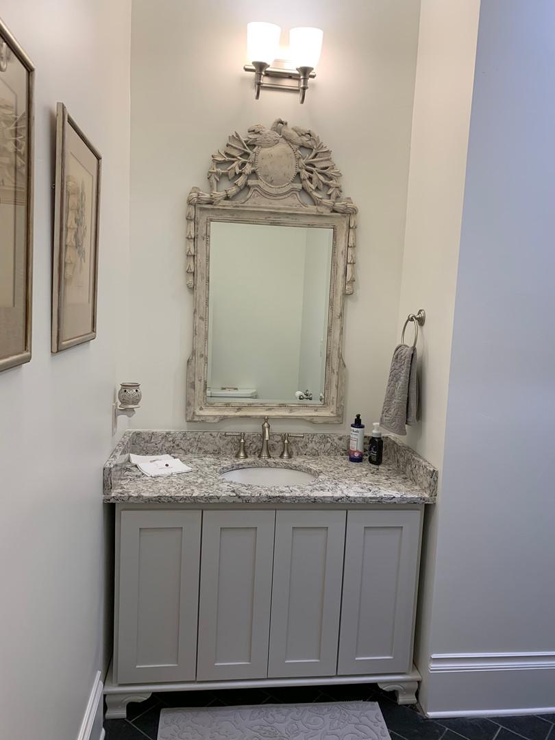 Powder Bathroom After