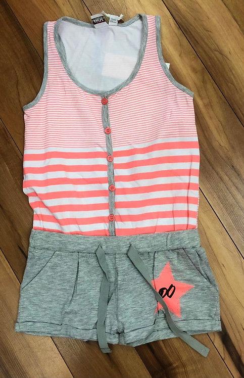 iDO Pink & Grey Short Jumpsuit