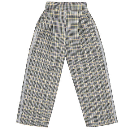 UBS2 Check wide leg trousers