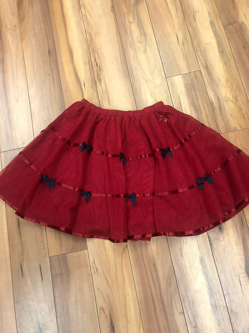 Le Chic - Red skirt with bows