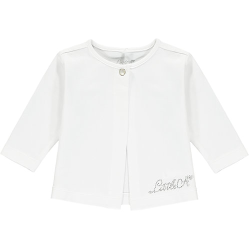 Little A -Kayleigh Bright White Cardy