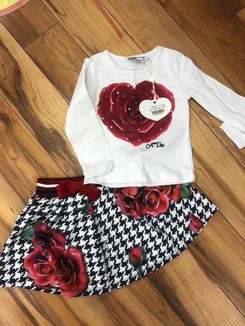 A Dee - Tyla Snow White Top & Skirt Set