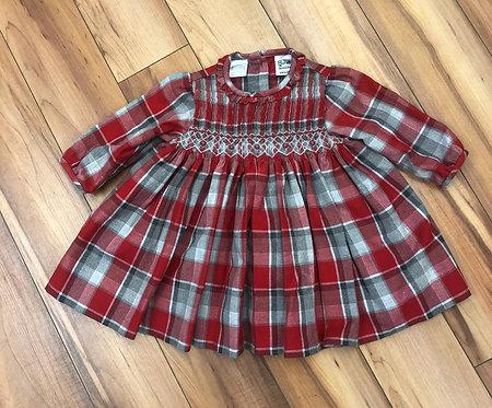Sarah Louise - Check Print Smock Dress