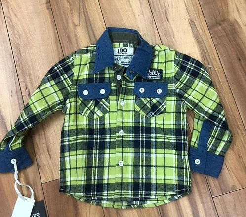 iDO - Green Check Shirt