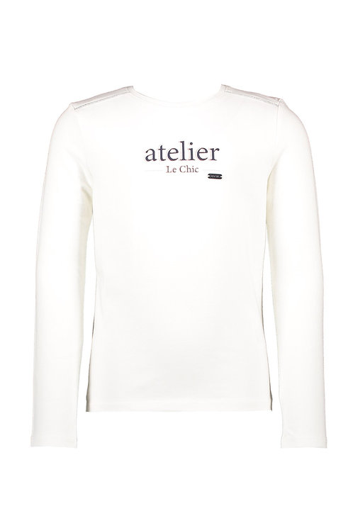 Le Chic - Nora Off White T-Shirt