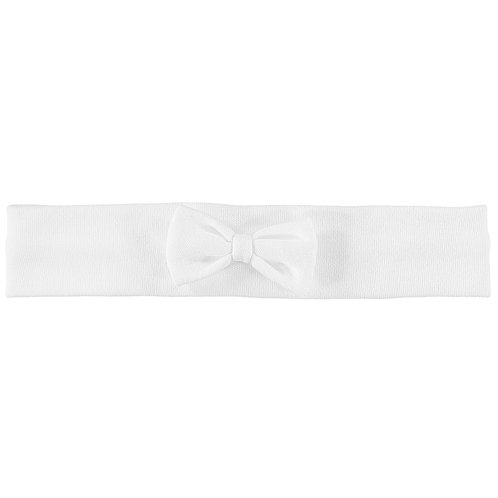 Alba - White interlock Hairband with bow
