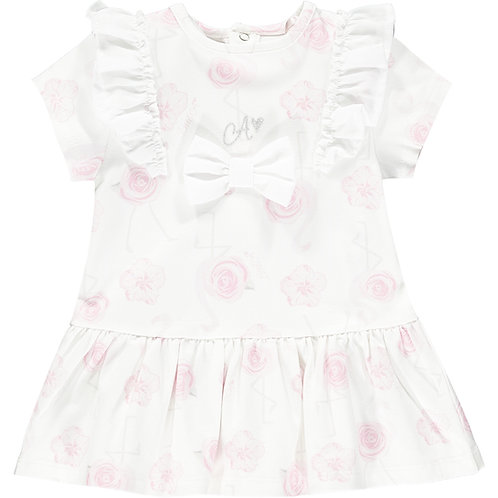 Little A - Jane Flamingo Print Dress