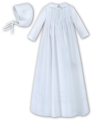 Sarah Louise - White Christening Robe and Hat